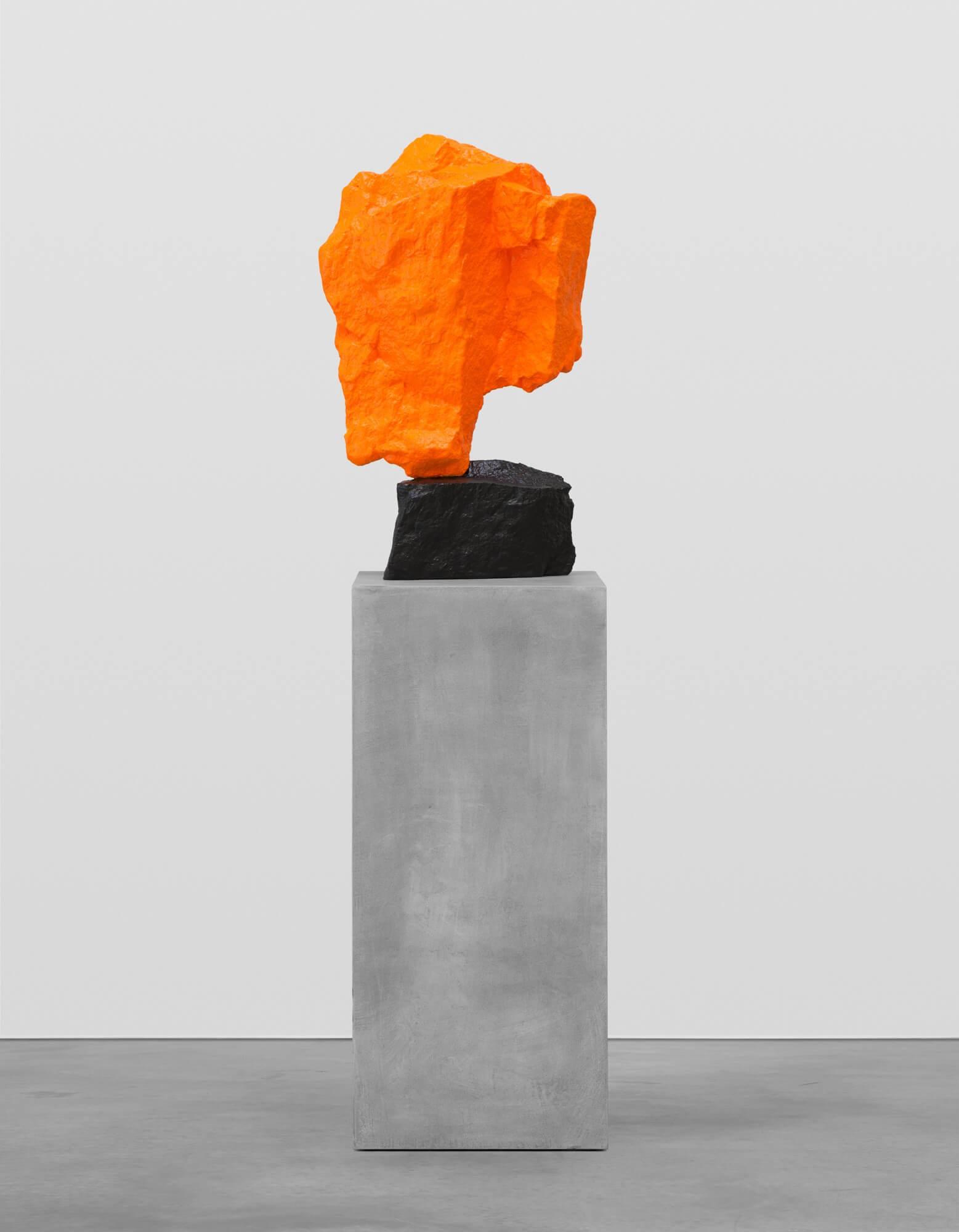 black orange mountain   UGO RONDINONE