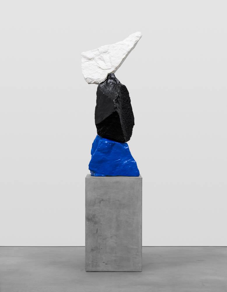blue black white mountain | UGO RONDINONE