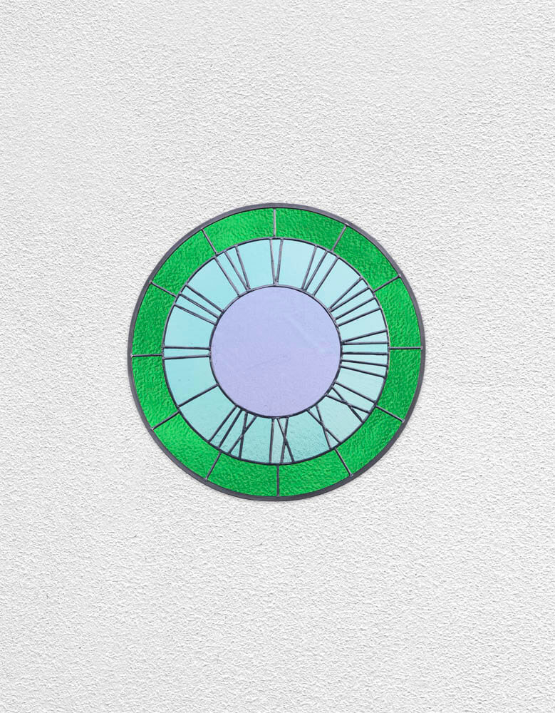 green, green, violet clock   UGO RONDINONE