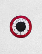 red white black clock | UGO RONDINONE