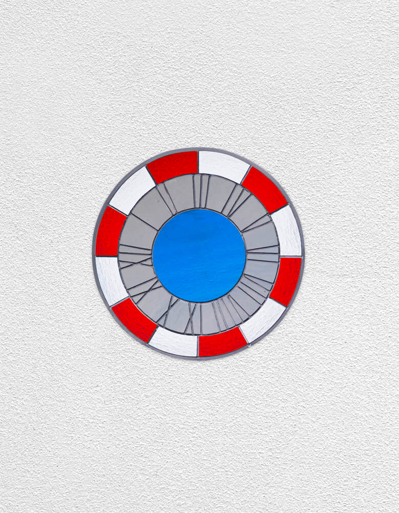 red grey blue clock | UGO RONDINONE