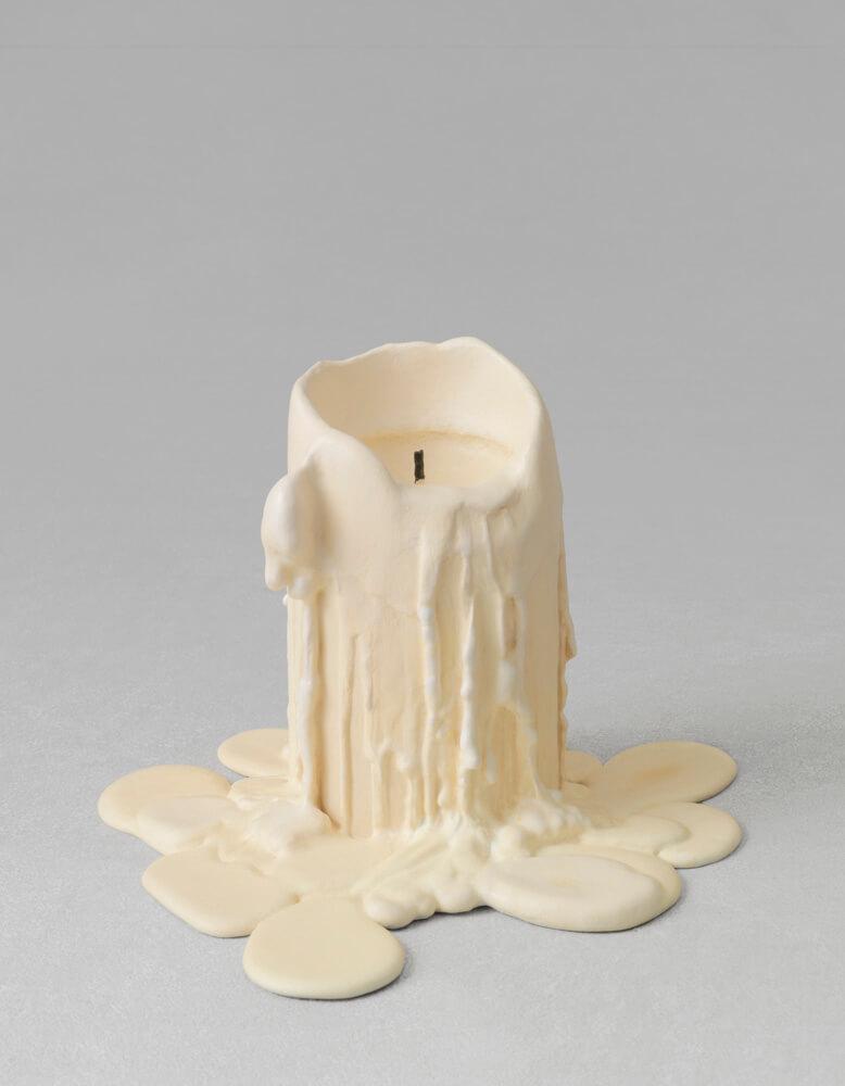 still.life. (mushroom beige candle)   UGO RONDINONE