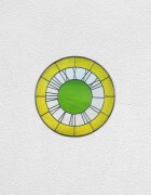 yellow white green clock | UGO RONDINONE