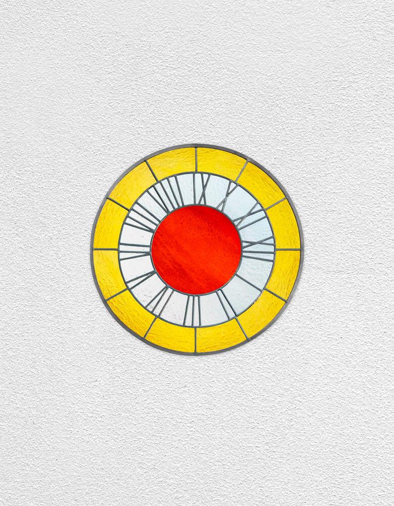 yellow white orange clock | UGO RONDINONE