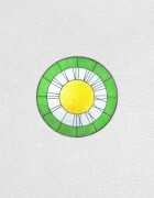 green white yellow clock | UGO RONDINONE