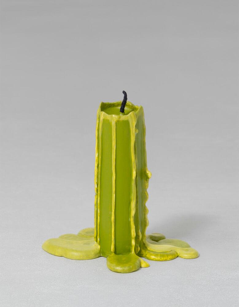 still.life. (olive green candle)   UGO RONDINONE