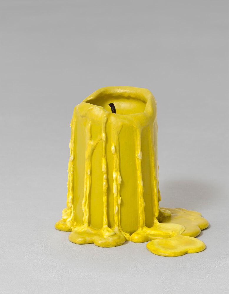 still.life. (mustard yellow candle) | UGO RONDINONE