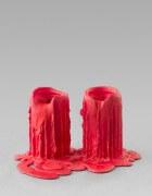 still.life. (carmine red candle) | UGO RONDINONE