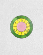 green yellow pink clock | UGO RONDINONE