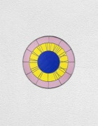 pink yellow blue clock | UGO RONDINONE
