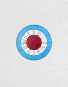 blue white red clock | UGO RONDINONE