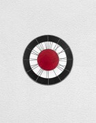 black white red clock | UGO RONDINONE