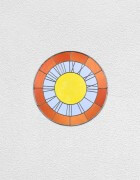 orange blue yellow clock | UGO RONDINONE
