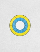 yellow blue white clock | UGO RONDINONE