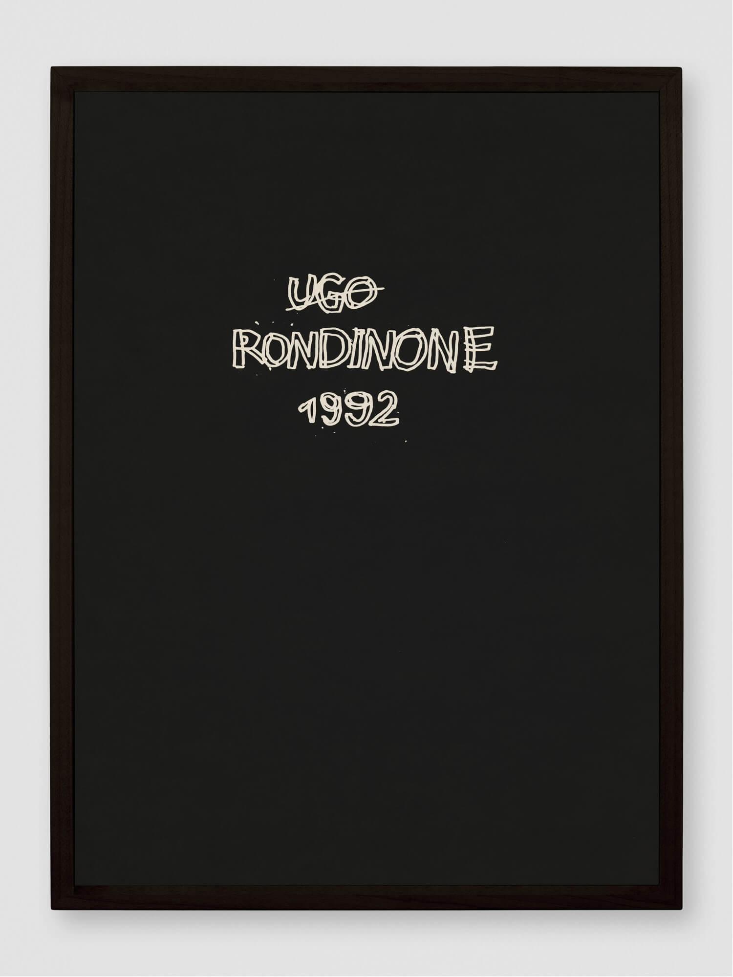 1992 | UGO RONDINONE