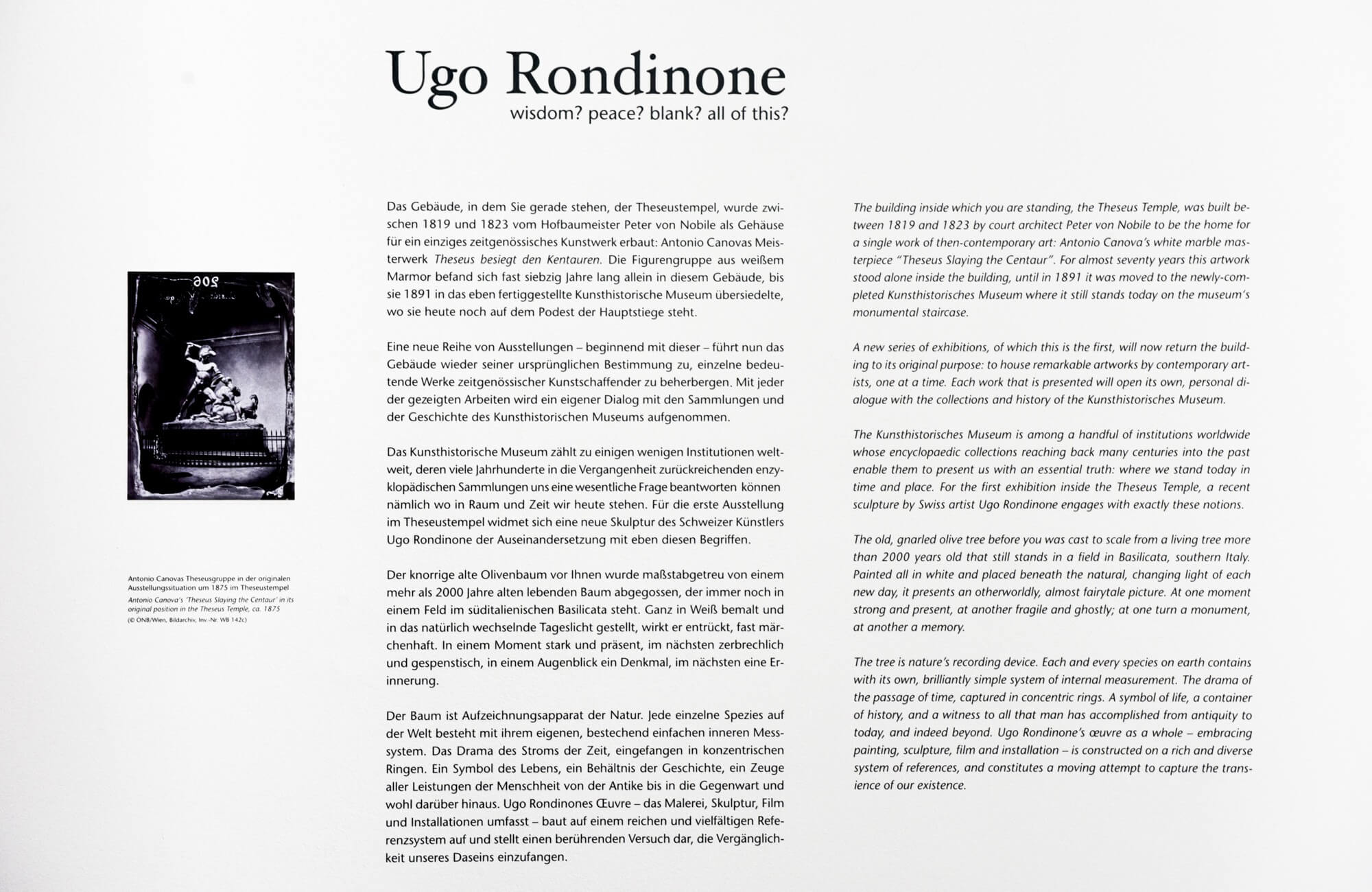 wisdom? peace? blank? all of this? | UGO RONDINONE