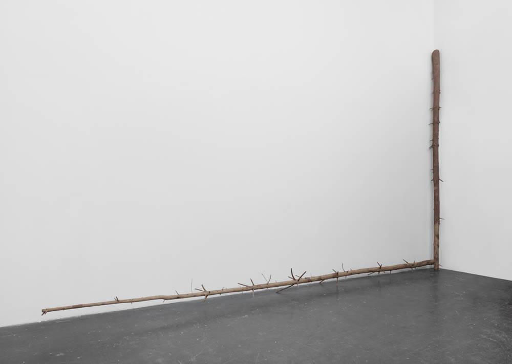 still.life. (log standing in a corner) | UGO RONDINONE