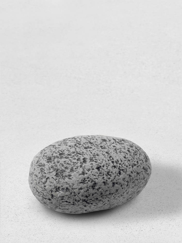 still.life. (black and white boulder) | UGO RONDINONE