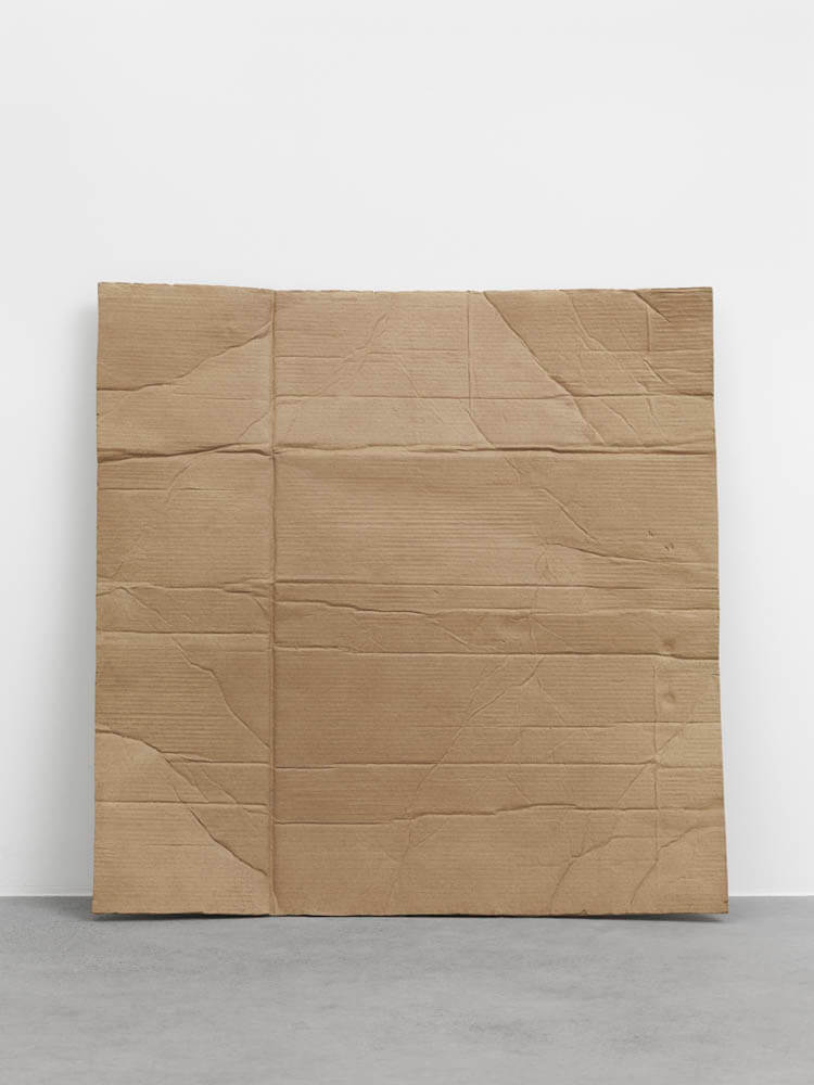 still.life. (cardboard leaning on the wall) | UGO RONDINONE