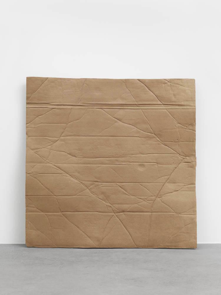 still.life. (cardboard leaning on the wall) | UGO RONDINONE