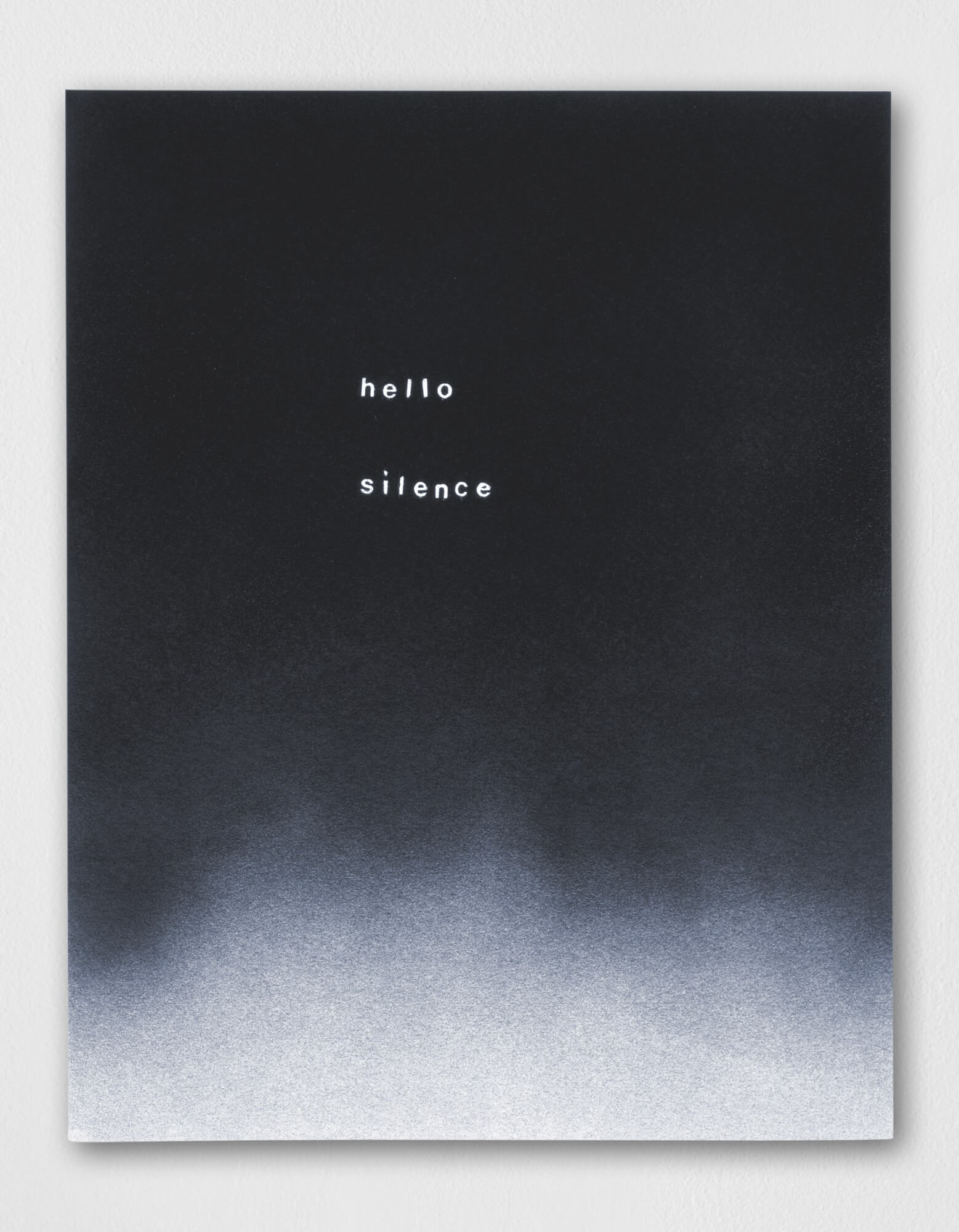 lines out to silence | UGO RONDINONE