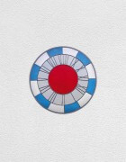 blue white gray red clock | UGO RONDINONE