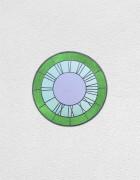 green, green, violet clock | UGO RONDINONE