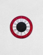 red white black clock | UGO RONDINONE