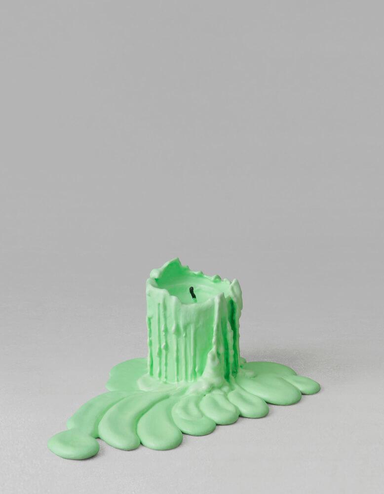 still.life. (aquamarine green candle) | UGO RONDINONE