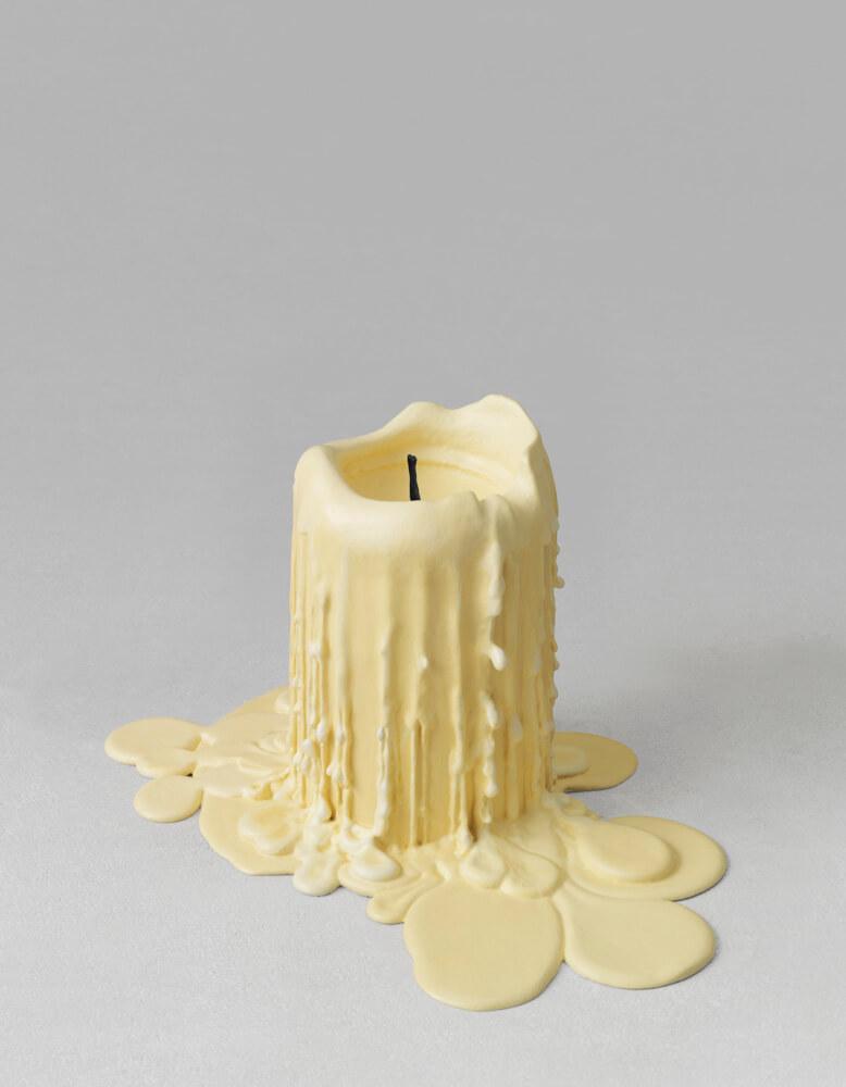 still.life. (beige candle) | UGO RONDINONE