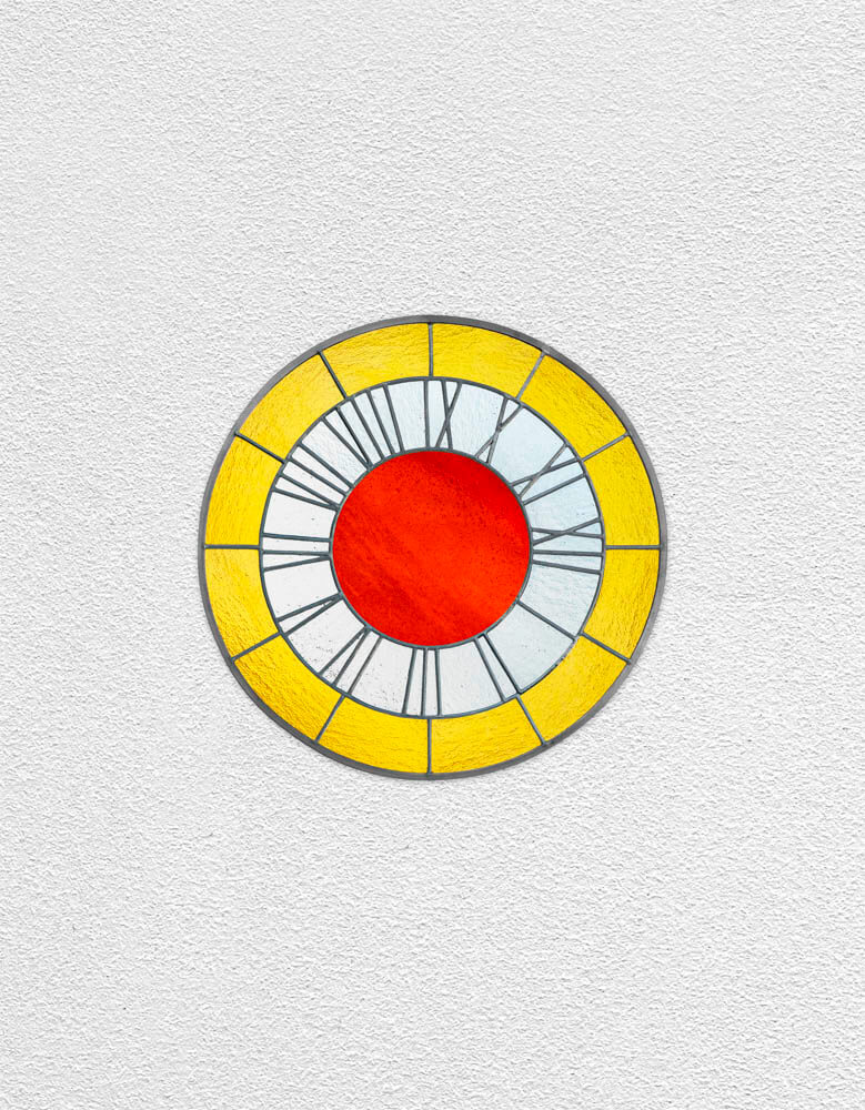 yellow white orange clock | UGO RONDINONE