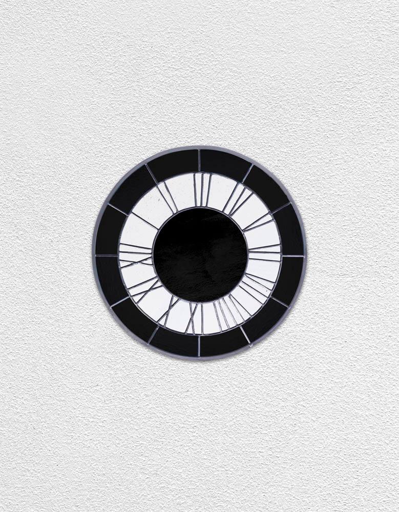 black white black clock | UGO RONDINONE