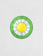 green white yellow clock | UGO RONDINONE