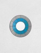 gray blue white clock | UGO RONDINONE