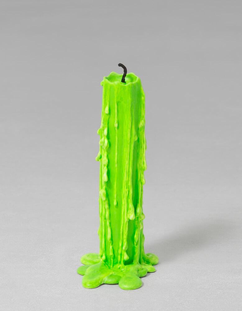 still.life. (neon green candle) | UGO RONDINONE