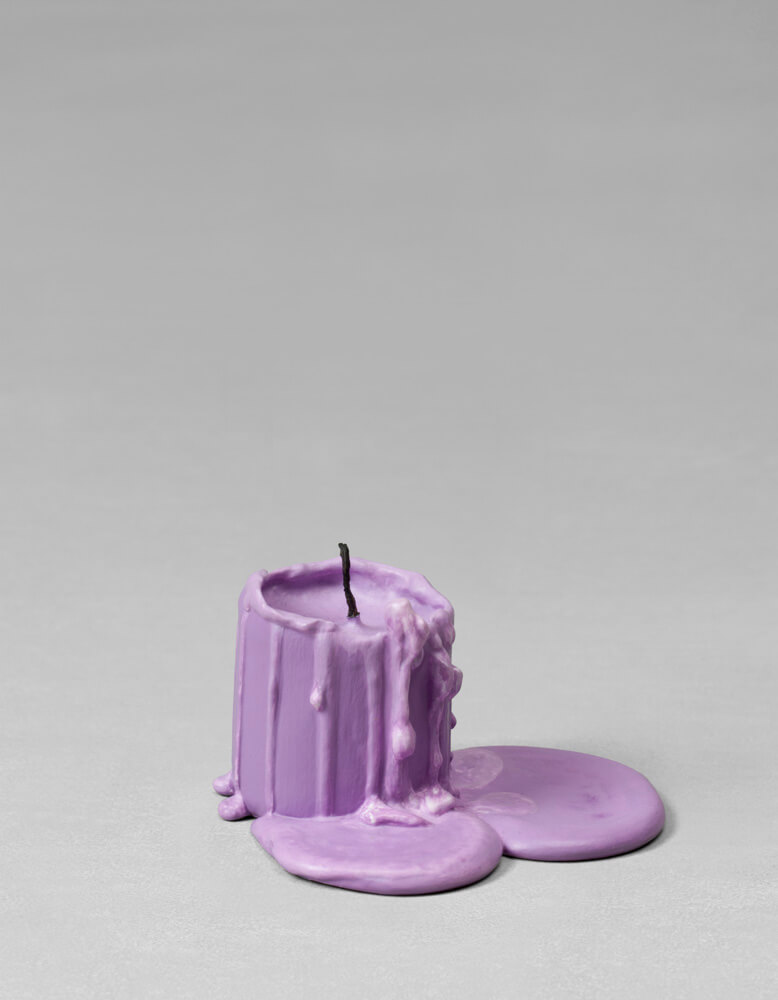 still.life. (pale violet candle) | UGO RONDINONE