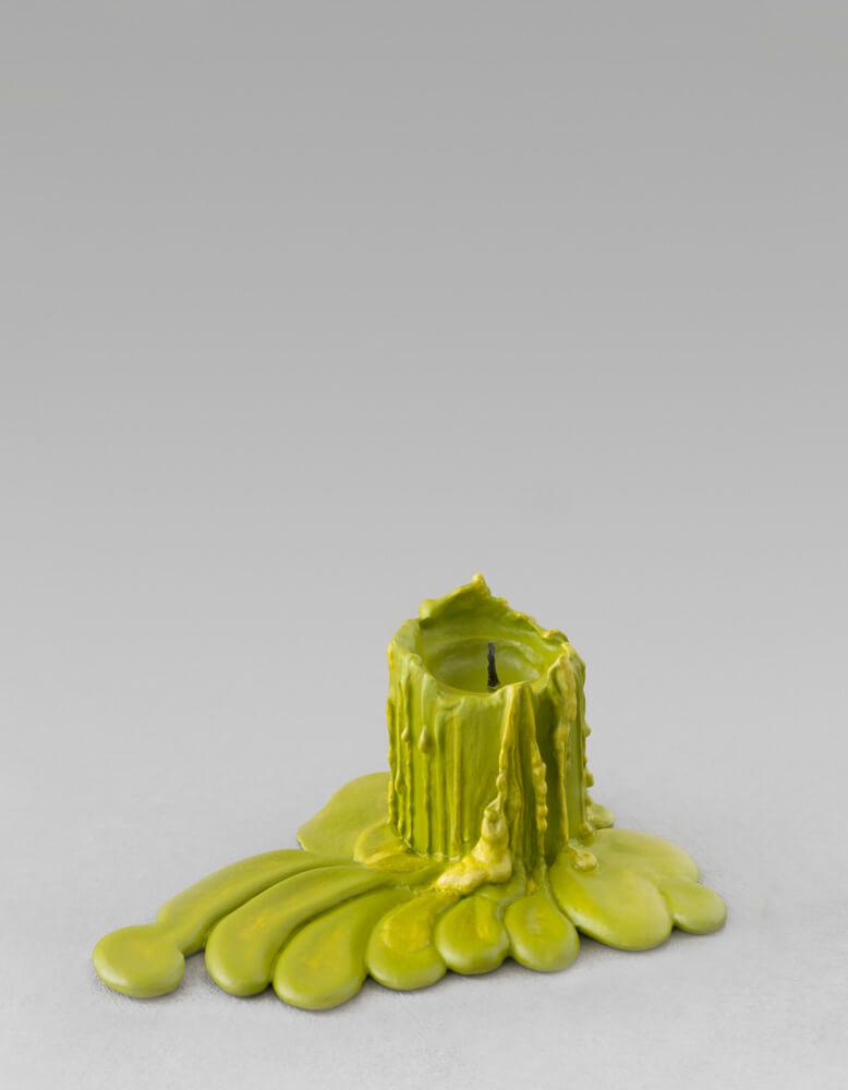 still.life. (olive green candle) | UGO RONDINONE