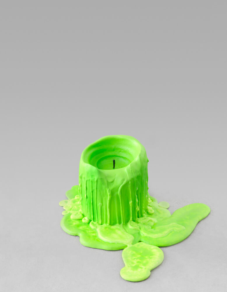still.life. (neon green candle) | UGO RONDINONE