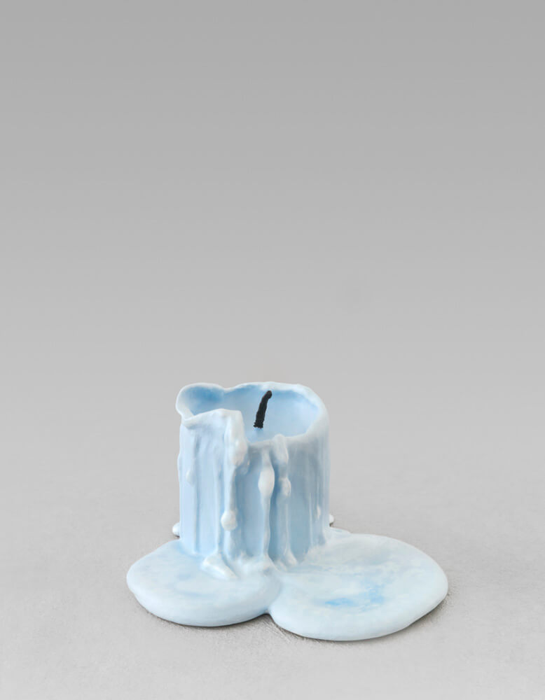 still.life. (sky blue candle) | UGO RONDINONE
