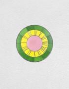 green yellow pink clock | UGO RONDINONE