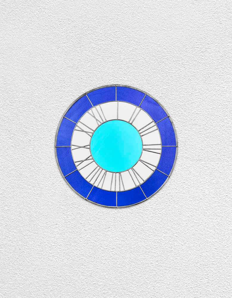 blue grey blue clock | UGO RONDINONE