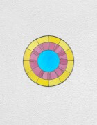 yellow pink blue clock | UGO RONDINONE