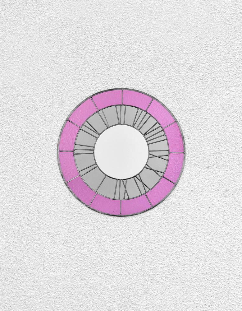 pink gray white clock | UGO RONDINONE