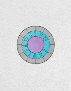grey blue pink clock | UGO RONDINONE