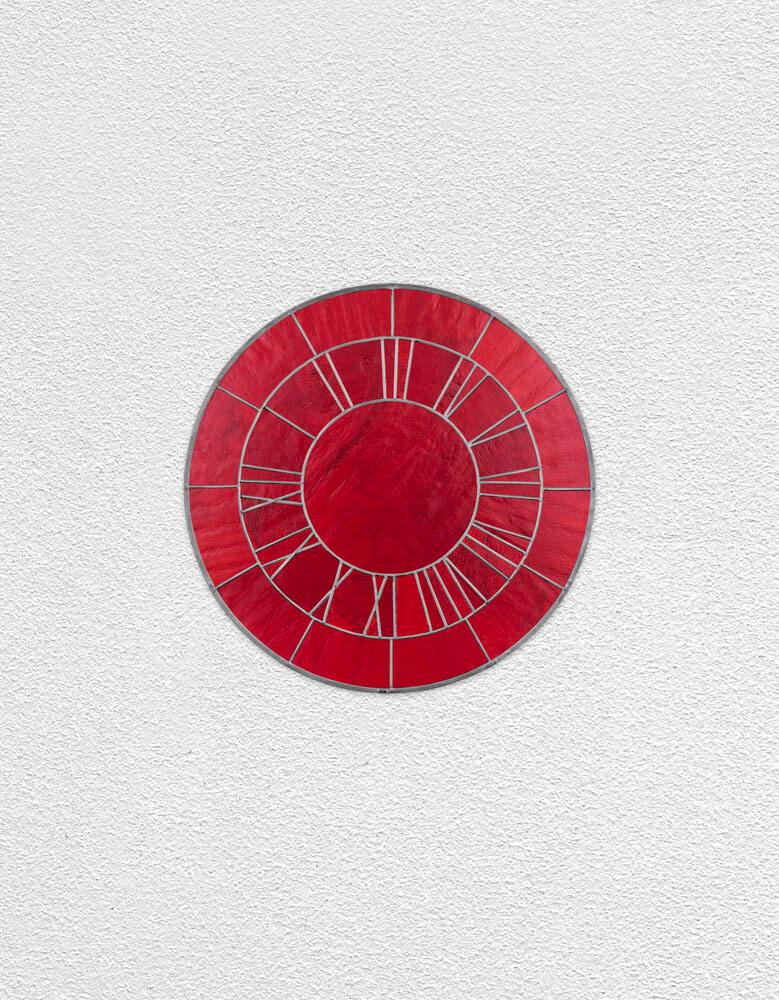 red clock | UGO RONDINONE