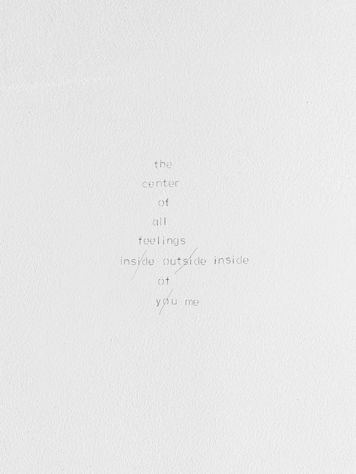 poem | UGO RONDINONE
