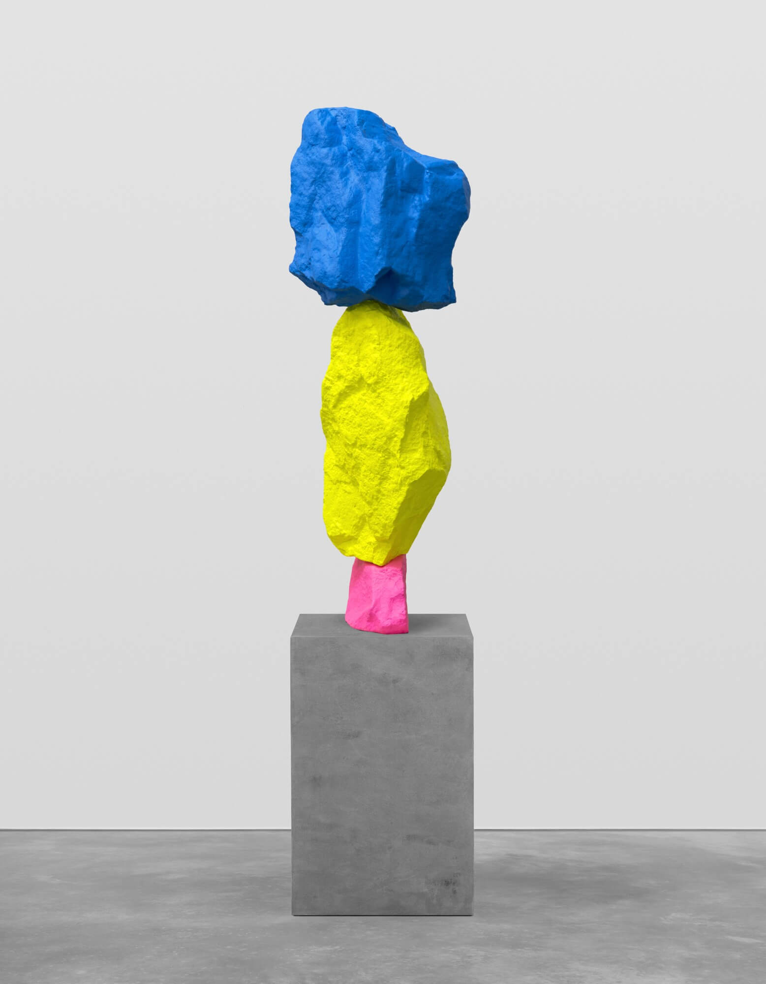 pink yellow blue mountain | UGO RONDINONE