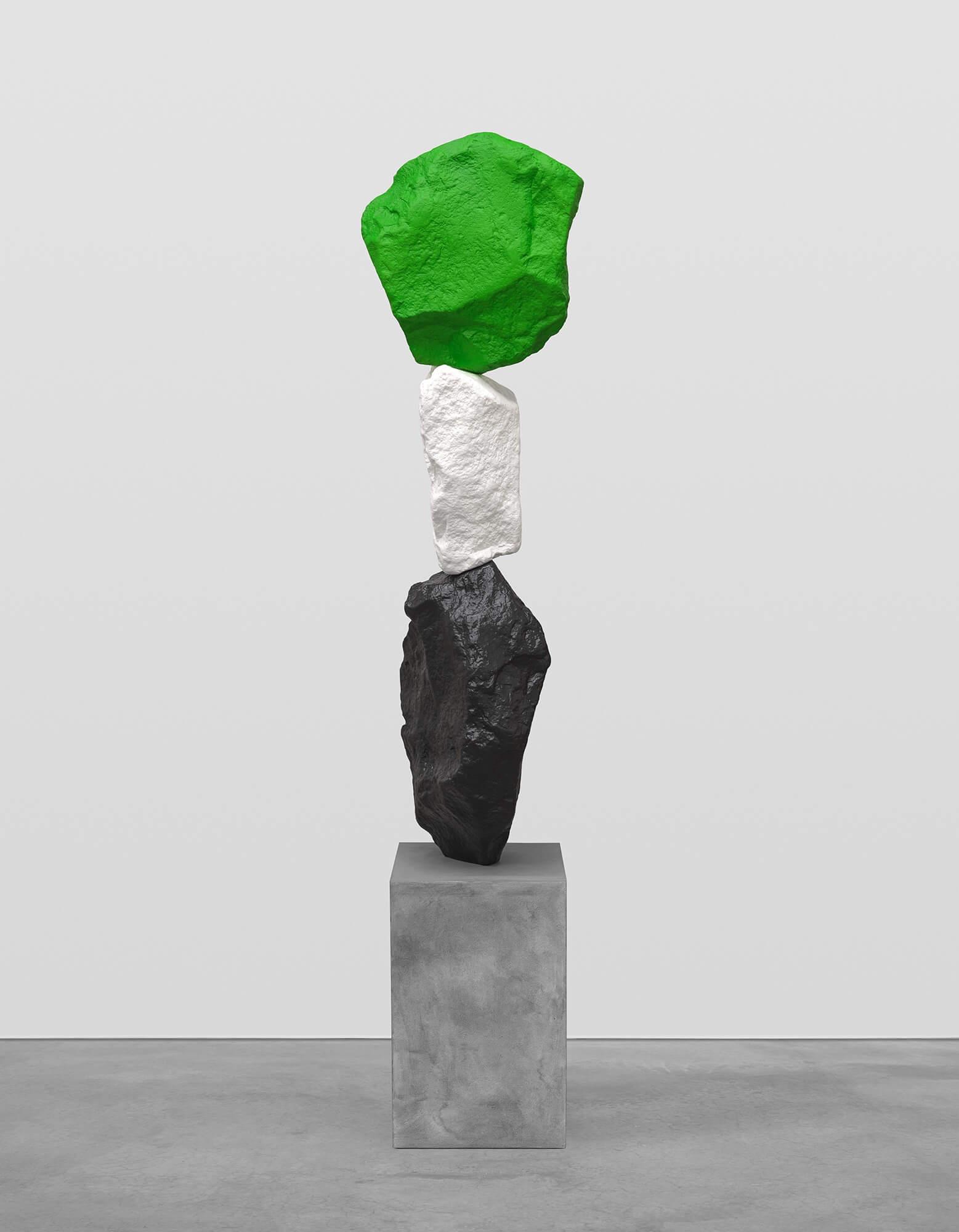 black white green mountain | UGO RONDINONE