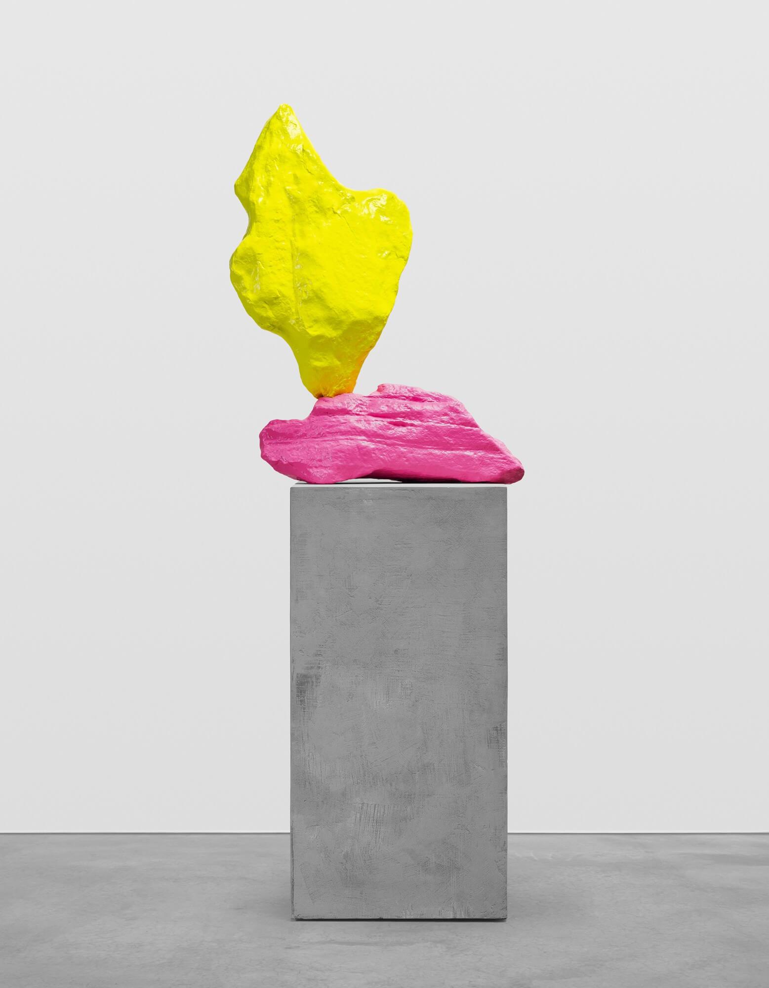 pink yellow mountain | UGO RONDINONE