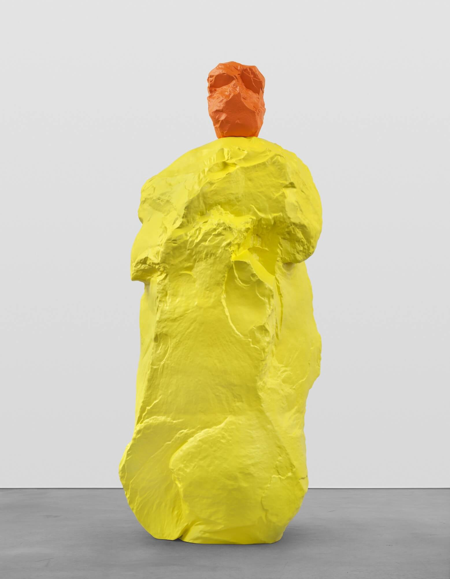 orange yellow monk | UGO RONDINONE